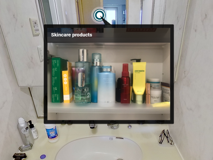 Image of Inside the washstand shelf