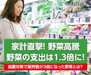 家計直撃!野菜高騰 ~野菜の支出は1.3倍に!